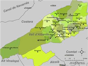 Municipalities of Vall d'Albaida
