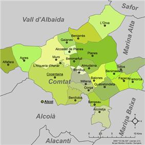 Municipalities of Comtat