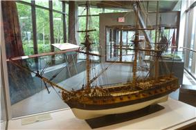 Scale model of Machault ship