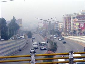 View of Outer Ring Road from Marathahalli bridge
