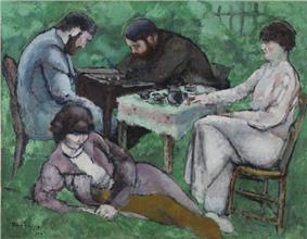 Marcel Duchamp, 1910, Joueur d'échecs (The Chess Game), oil on canvas, 114 x 146.5 cm, Philadelphia Museum of Art.jpg