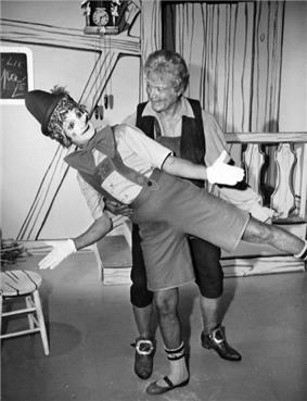 Skelton and Marcel Marceau, 1965