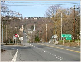 Approaching Marcellus village on the historic Seneca Turnpike
