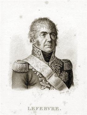 François Joseph Lefebvre commanded the Bavarian VII Corps.