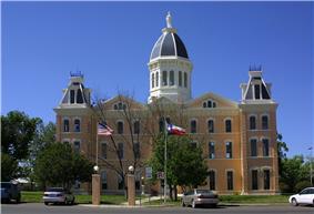 Presidio County courthouse in Marfa