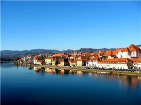 Maribor's Old Town along the Drava River
