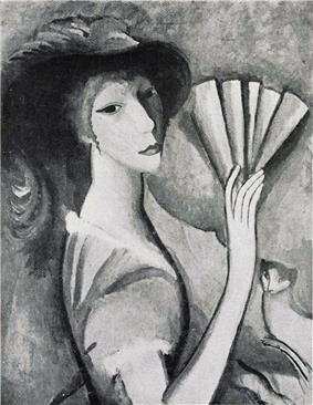 Marie Laurencin, Femme à l'éventail, Reproduced in Du