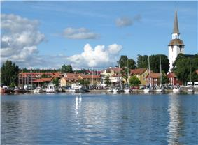 Mariefred in August 2005, view from Gripsholm Castle