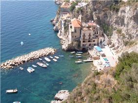 The marina at Conca dei Marini