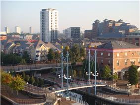 A view over Salford, Greater Manchester