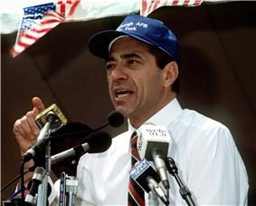 Mario Cuomo speaking at a rally, June 20, 1991.JPEG