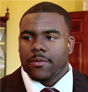 A picture of Mark Ingram at the White House.