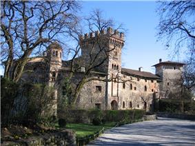 Castle in the frazione of Marne
