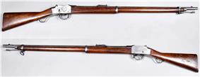 Two breech-loading rifles of late 19th-century vintage
