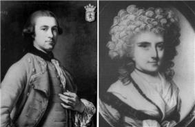 Mary Eleanor Bowes and her husband John Lyon.
