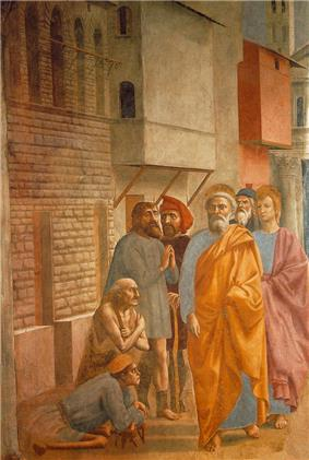 XI=St Peter Healing the Sick with His Shadow, Masaccio