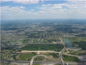 Aerial view of Mason