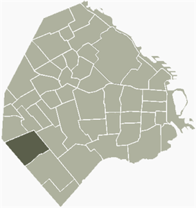 Location of Mataderos within Buenos Aires