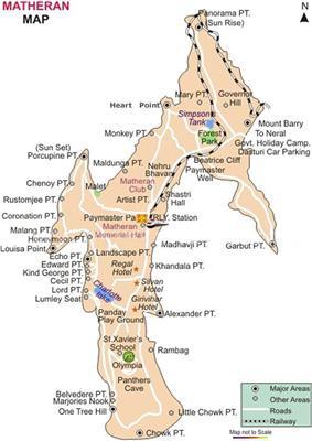 Detailed map of Matheran