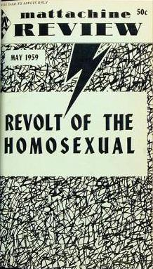 Front cover of the May 1959 issue of the Mattachine Review, an American homophile magazine
