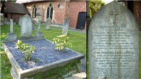 Arnold's gravestone