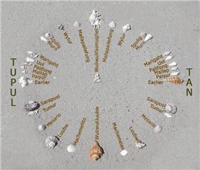 A recreation of Mau Piailug's star compass.