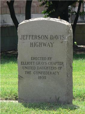 Maury Street Marker, Jefferson Davis Highway