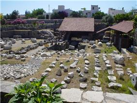 The ruins of the Mausoleum at Halicarnassus, one of the Seven Wonders of the Ancient World