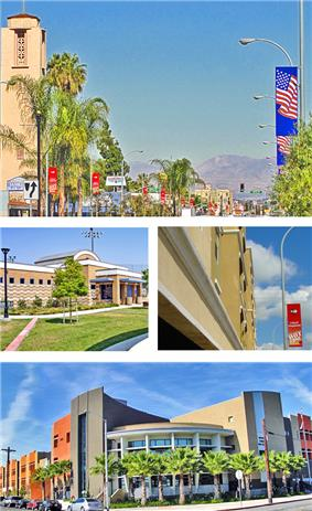Images, from top, left to right: Maywood Skyline, Aquatic Center, Maywood Villas, Maywood Academy