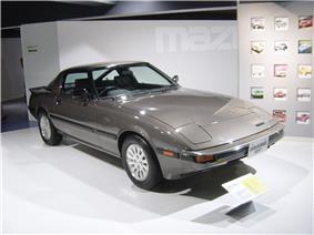 A first-generation Mazda RX-7.