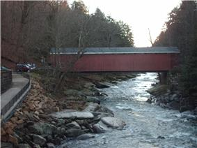 McConnell's Mill Covered Bridge in McConnells Mill State Park