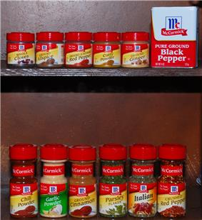 McCormick Spices are popular in commercial American stores.