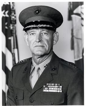 A color image of Kenneth McLennan, a white male in his Marine Corps dress uniform