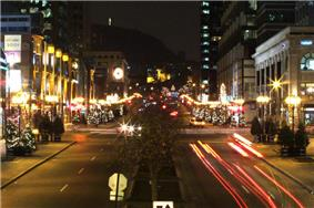 A view of McGill College Avenue in December.