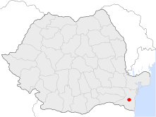 Location of Medgidia