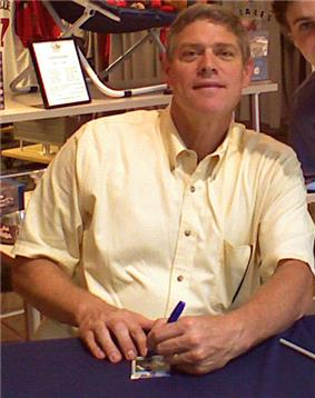 Dale Murphy sitting, looking at the camera