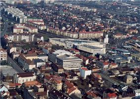 Aerial photograph of Miskolc