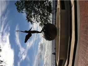 Sculpture by C. Adrian Pillars in Memorial Park