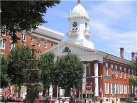 Memorial Square in downtown Chambersburg