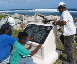Memorial in honor of the personnel killed when plane crashed in South Pacific 19SEP50.
