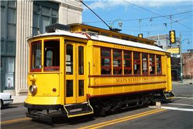 Memphis downtown trolley