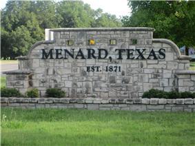 Menard welcome sign
