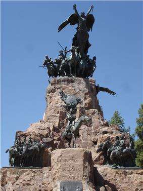 Photo of a freedom monument in Mendoza