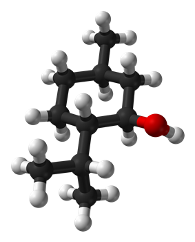 Ball-and-stick model of (−)-menthol