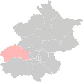 Location of Mentougou District in Beijing