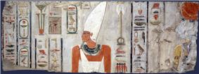 Mentuhotep II on a relief from his mortuary temple in Deir el-Bahari