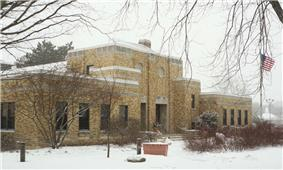 Mequon City Hall, listed on the National Register of Historic Places