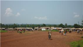 Central market in Bangassou