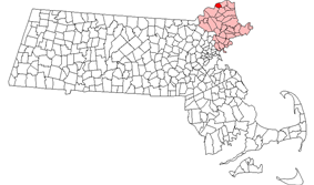 Location in Essex County in Massachusetts