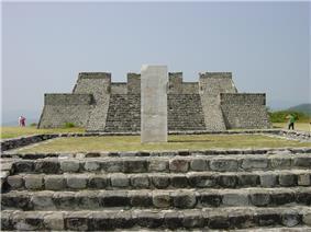 Mexico xochicalco pyramids.
